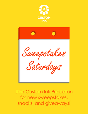 Custom Ink Sweepstakes Saturday Flyer